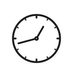 Black icon of Clock vector image