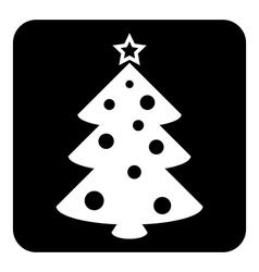 Christmas tree symbol button vector image vector image