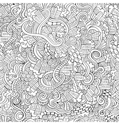 hand drawn town seamless pattern vector image vector image