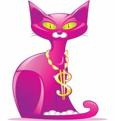 money cat vector image