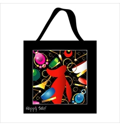 Shopping bag design with woman jewelry vector image