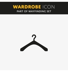 The hanger icon Coat rack symbol vector image