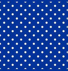 tile pattern white polka dots on blue background vector image vector image