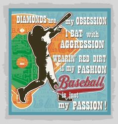 baseball words fans vector image vector image