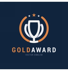 Gold award emblem vector