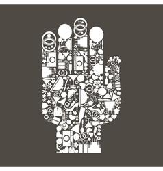 Hand wedding vector image