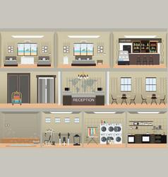 hotel interior set vector image vector image