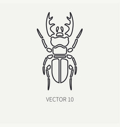 line flat plain wildlife fauna icon stag vector image
