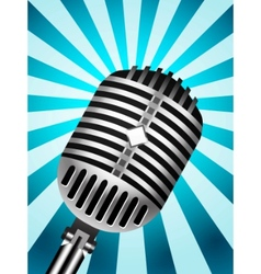 microphone back retro vector image vector image