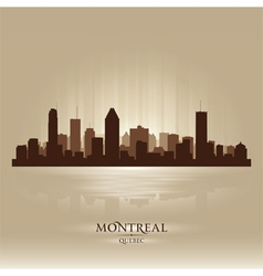 Montreal Quebec skyline city silhouette vector image vector image