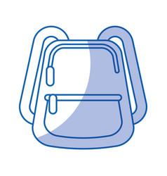 School bag isolated icon vector