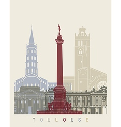 Toulouse skyline poster vector image