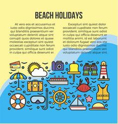beach summer holidays or sea cruise travel vector image