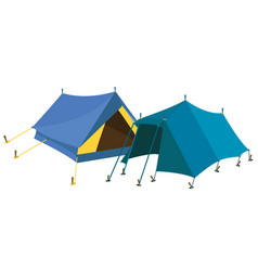 blue tents vector image vector image