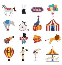 Circus decorative icons set vector