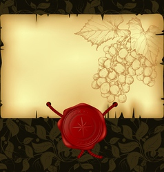 paper with wax seal vector image vector image