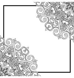 Square Mandala Frame-031 vector image
