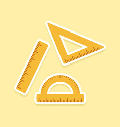 three ruler school supplies vector image