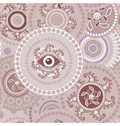 Tribal seamless paisley abstract texture vector image vector image