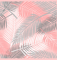 tropical summer palm leaves seamless pattern vector image vector image