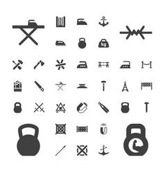 37 iron icons vector