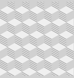 abstract isometric cubes seamless pattern vector image