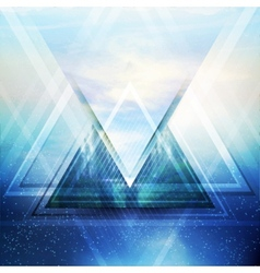 Abstract triangle future background vector image vector image