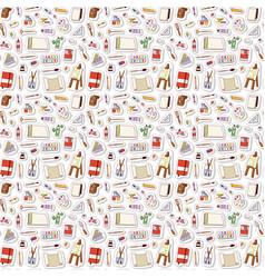 Art stickers seamless pattern vector