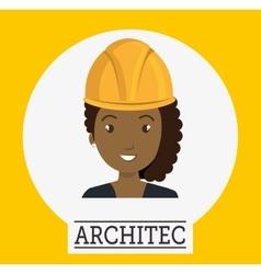 Avatar woman architect vector
