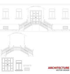Black architecture background vector image