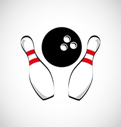 bowling game design vector image