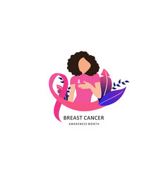 breast cancer awareness with ribbon vector image