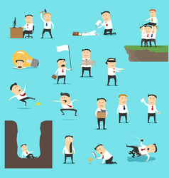 Businessmen in business failure situations vector