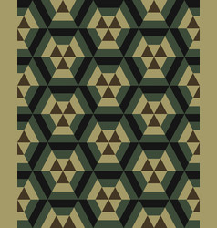 Camouflage hexagon seamless vector