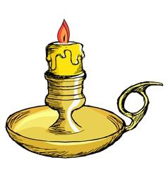 Candlestick mantel vector