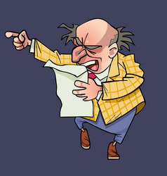 cartoon man with a receding hairline emotional vector image