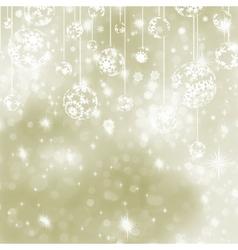 Christmas elegant baubles background vector