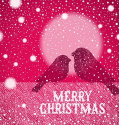 Christmas hand drawn bullfinches vector