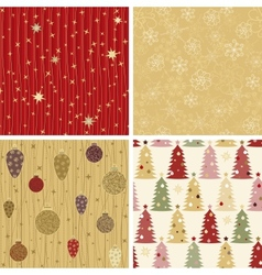Christmas patterns collection 2 vector