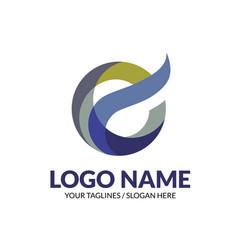 Creative modern elegant letter e logo concept vector