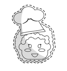 cute kid icon vector image