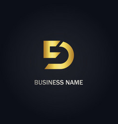 d initial business logo vector image