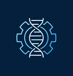 Dna in cogwheel colored icon or logo in vector