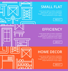 Efficiency hallway space decoration poster set vector