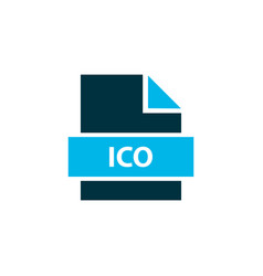 File ico icon colored symbol premium quality vector