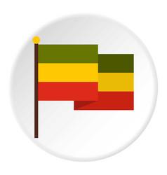 Flag jamaica icon circle vector