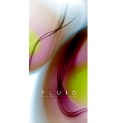 fluid flowing wave abstract background vector image