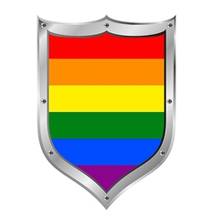 Gay flag button vector