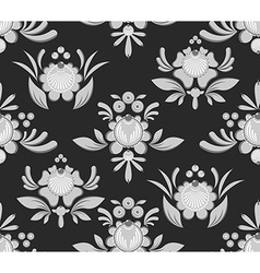 Gorodets seamless pattern Floral ornament Russian vector image