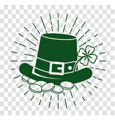 icon patricks day silhouette vector image